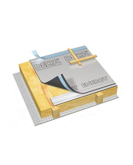 енергоефективна дифузійна мембрана з алюмінієвим рефлекторним шаром