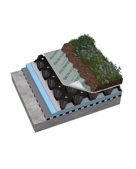 дренажная влагонакопительная мембрана