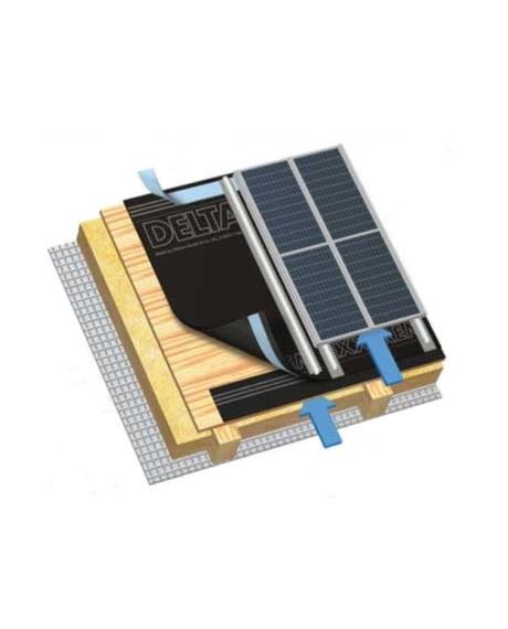 диффузионная мембрана для наклонных крыш с интегрированными солнечными батареями или термоколекторами